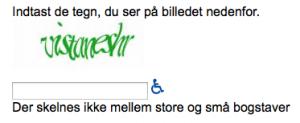 Eksempel på CAPTCHA
