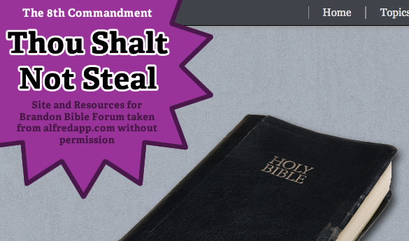Thou Shalt Not Steal
