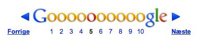 Googles paginering