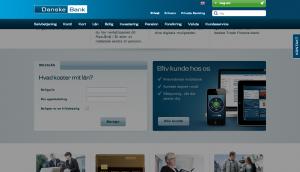 Fixed topnavigation, som kan foldes ind og ud, på danskebank.dk