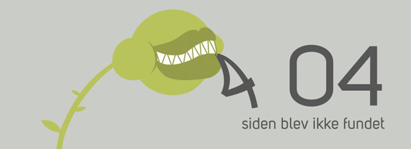 Spiren fra vores logo er løs på vores 404-side