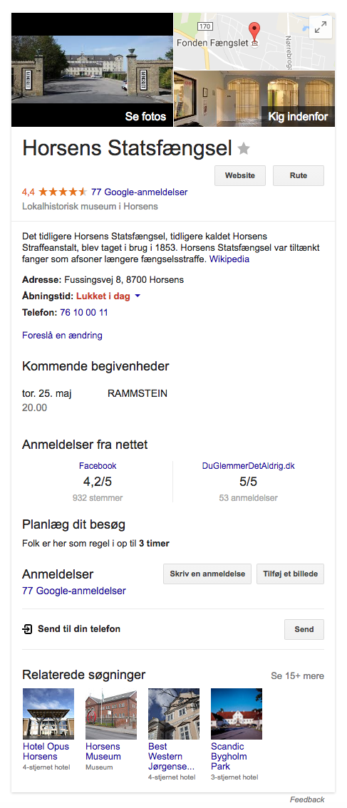 Fængslet - Google Knowledge Graph