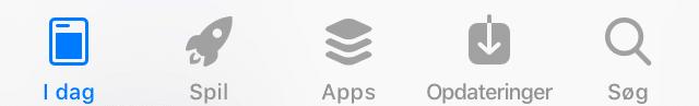 App Store tab bar