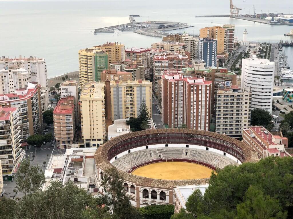 Malaga fra udsigtspunkt