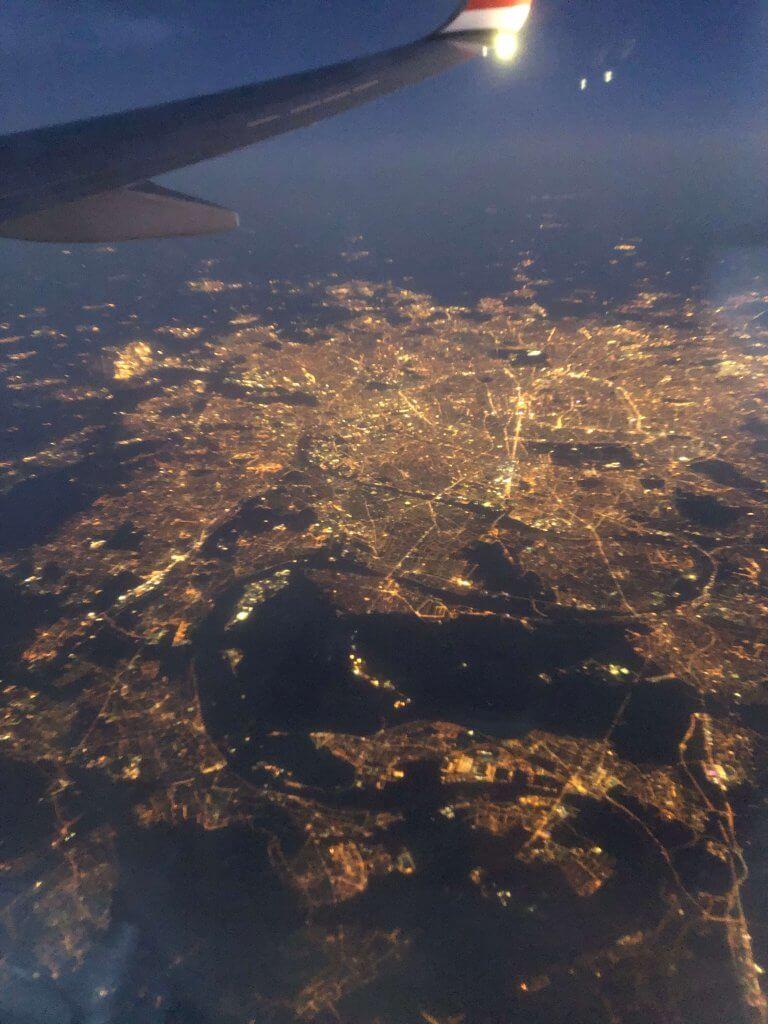 Paris set fra flyet