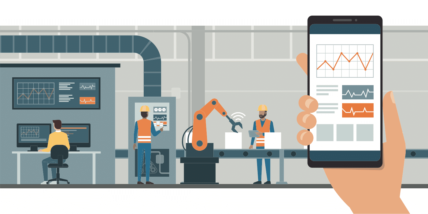 Industri 4.0 monitorering via apps